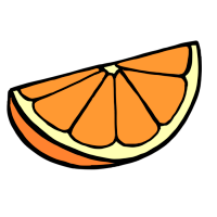 オレンジ(手書きイラスト)