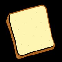 食パン(手書きイラスト)