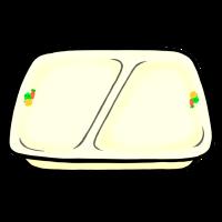 仕切り皿(手書きイラスト)