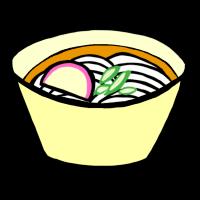 うどん(手書きイラスト)