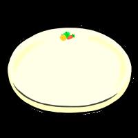 丸皿(手書きイラスト)