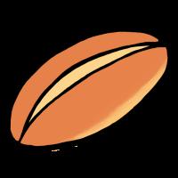 背割りコッペパン(手書きイラスト)