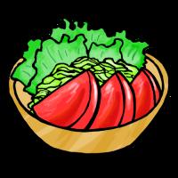 トマトサラダ(手書きイラスト)
