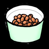 納豆(手書きイラスト)