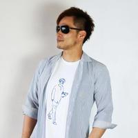 クラッチ鯖Tシャツ ホワイト×ネイビー(5.6オンス)