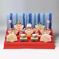 【ひな人形】銀杏びな三段飾り/特製垂幕