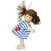 クレーブス人形 【女の子 青ボーダー】