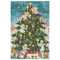 アドベントカレンダー(カードタイプ)天使とツリー