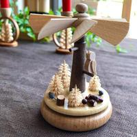 【ハインリッヒ工房】 ミニクルクルピラミッド 森のフクロウ