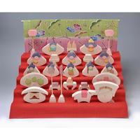 【ひな人形】円びな五段飾り/特製垂幕