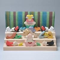 【五月人形】 里山円武者三段飾り/普通垂幕