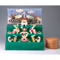 【五月人形】楕円武者三段飾り/特製垂幕