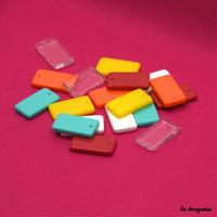 Perle « Imagine pendant rectangle » 18 mm de hauteur
