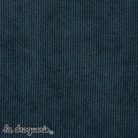 Tissu « Velouté milleraies » Bleu pétrole
