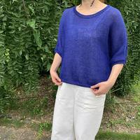 ニットキット  «Le tee-shirt femme Bray-dunes» ブルー