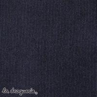 Tissu « Velouté milleraies » Bleu marin