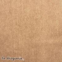 Tissu « Velouté milleraies » Beige noisette
