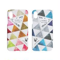 Happymori iPhone XR Triangle Pattern Bar ピンク