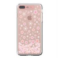 LIGHT UP CASE iPhone 8 Plus / 7Plus Soft Lighting Clear Case Flower CherryBlossom (ローズゴールド)