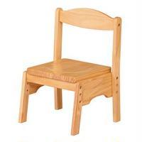 キッズチェア/子供椅子 【ナチュラル 幅350mm】 木製 スタッキング可 〔リビング プレゼント〕 組立品【代引不可】