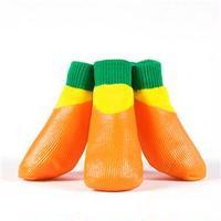 (まとめ)L'ange わんPAWプロテクト ベーシックオレンジ 5号 (ペット用品・靴)【×2セット】