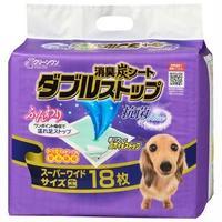 (まとめ)クリーンワン消臭炭シートダブルストップ スーパーワイド 18枚(ペット用品)【×4セット】