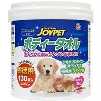 (まとめ)JOYPET ボディータオルペット用 お徳用 130枚 (ペット用品)【×6セット】