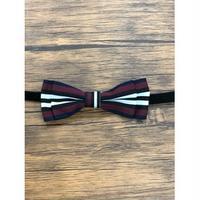 Pet bow tie(ペットボウウタイ) S ホワイト×ワインレッド