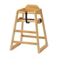 ベビーチェア/赤ちゃん椅子 【ナチュラル】 幅520mm 木製 スタッキング可 対象年齢:6ヶ月~5才頃 〔プレゼント〕 組立品【代引不可】