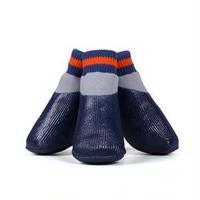 (まとめ)L'ange わんPAWプロテクト ベーシックネイビー 5号 (ペット用品・靴)【×2セット】