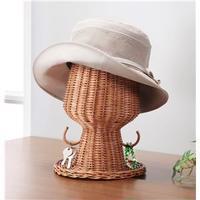 ラタン帽子スタンド(小物掛けフック付き)【代引不可】