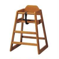 ベビーチェア/赤ちゃん椅子 【ブラウン】 幅520mm 木製 スタッキング可 対象年齢:6ヶ月~5才頃 〔プレゼント〕 組立品【代引不可】