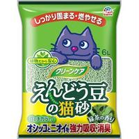 (まとめ)クリーンケア えんどう豆の猫砂 緑茶の香り (ペット用品)【×5セット】