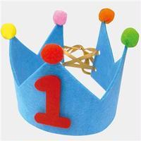 (まとめ)ノルコーポレーション メモリアルバースデーフェルトクラウン ブルー BDZ0203【×10セット】