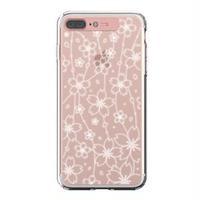 LIGHT UP CASE iPhone 8 Plus / 7Plus Soft Lighting Clear Case Flower (ローズゴールド)