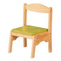 キッズチェア/子供椅子 【ライム 幅350mm】 木製 スタッキング可 〔リビング プレゼント〕 組立品【代引不可】