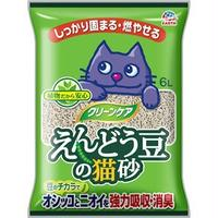 (まとめ)クリーンケア えんどう豆の猫砂 (ペット用品)【×5セット】
