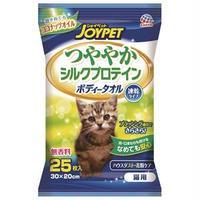 (まとめ)JOYPET つややかシルクプロテイン ボディータオル 猫用 25枚 (ペット用品)【×40セット】