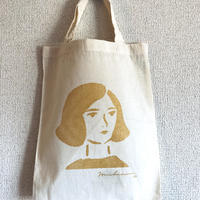 Michinari コットンバッグ / A4サイズ (ゴールド / グレー)