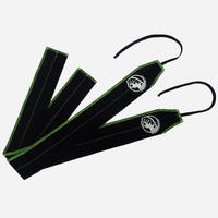 STRENGTH WRAPS / Black & Lime Geen Stitch