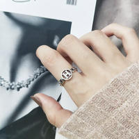 H silver ring