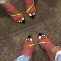 neon open heels