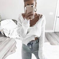 V neck knit