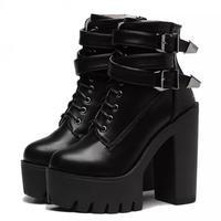 lace up belt boots