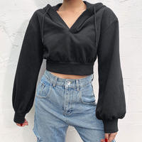 black short sweat tops