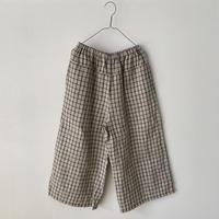 miho umezawa LATTICE CHECK straight wide pants
