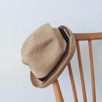 mature  ha. BOXED HAT 7cm brim grosgrain ribbon