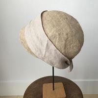 mature ha.   jute scarf cap
