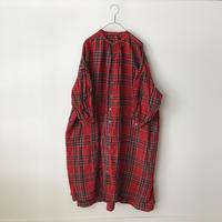 UNIVERSAL TISSU リネンタータンギャザーシャツドレス