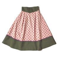 DOT flare skirt (pink)